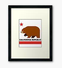California Republic - Minimalistic Framed Print