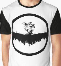 Urban Faun - Black on White Graphic T-Shirt