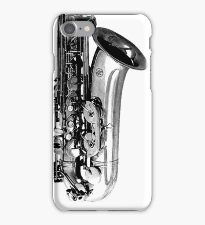 saxophone abstract iPhone Case/Skin