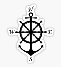 Anchor Finding Home Sticker