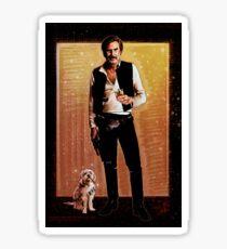 Ron Burgundy Han Solo Sticker