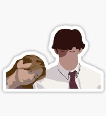 Pam and jim Sticker