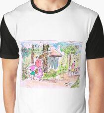 Village Scene - Bengal Graphic T-Shirt