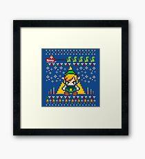Zelda 8Bit Pixel Framed Print