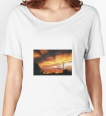 Firey Sunset Streetscape Women's Relaxed Fit T-Shirt