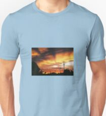 Firey Sunset Streetscape Unisex T-Shirt