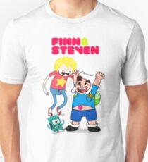Adventure TIme Finn and Steven Universe T-Shirt