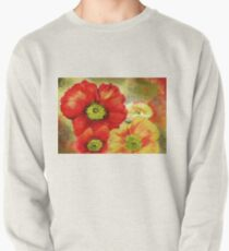 Morpheus's Abstract Red Poppies Pullover Sweatshirt