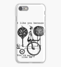 An amusing kind of man iPhone Case/Skin