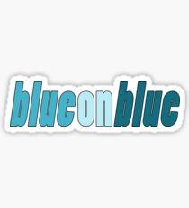 Pegatina Azul en azul orgullo
