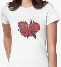 Graffiti Tees-4- ROSES! Womens Fitted T-Shirt