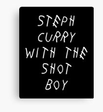 Curry Drake Shot (White) Canvas Print