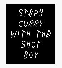 Curry Drake Shot (White) Photographic Print