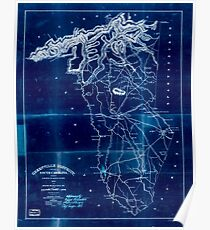 Civil War Maps 0472 Greenville District South Carolina Inverted Poster