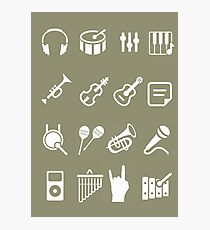 musical instruments icon Photographic Print