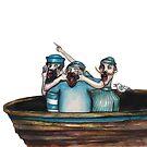 The 3 fishermen by Jenny Wood