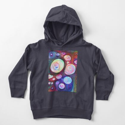 #DeepDream bubbles on frozen lake 5x5K v1450615886 Toddler Pullover Hoodie