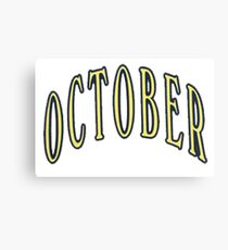 October- OVO Canvas Print