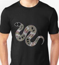 Aboriginal Art - Snake Unisex T-Shirt