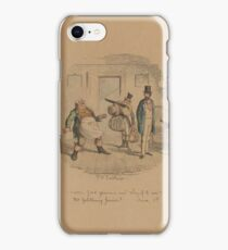 Frederic W. Pailthorpe 1838-1914 Mr. Nightingale's diary . old painting, men, hat, goods iPhone Case/Skin