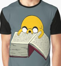 Jake Reading a Giant Book - AdventureTime! Graphic T-Shirt