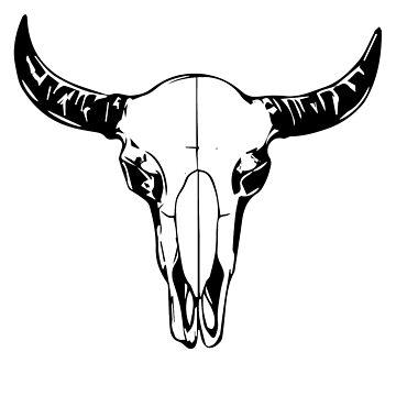 Bison skull  by Tigerlibres