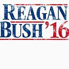 Distressed Reagan - Bush '16 by Robin Lund