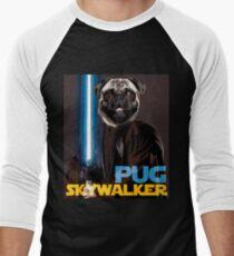Pug Skywalker Men's Baseball ¾ T-Shirt