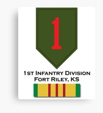 1st Infantry Vietnam Canvas Print