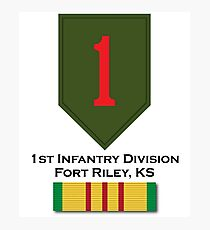 1st Infantry Vietnam Photographic Print