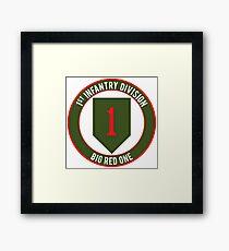 1st Infantry Big Red One Framed Print