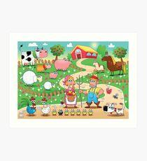 Animal farm Art Print