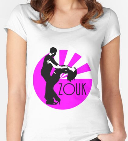 lets dance zouk Women's Fitted Scoop T-Shirt