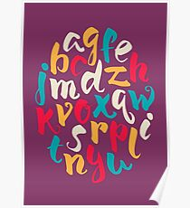 Lettering ABC Poster