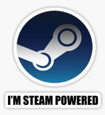 The power of steam Sticker