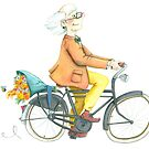 Flower bike guy by Sanne Thijs