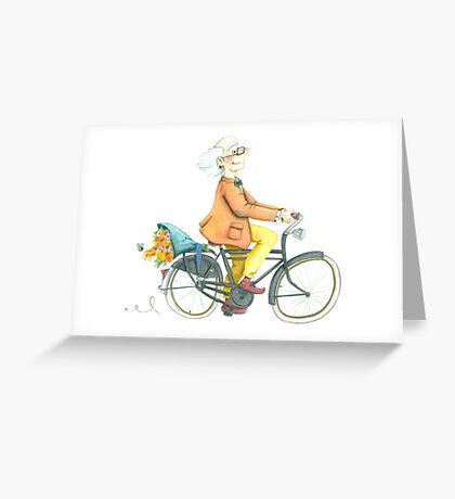 Flower bike guy Greeting Card