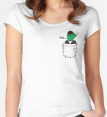 Pocket Reptilian - Leafy ( Leafyishere ) Women's Fitted Scoop T-Shirt