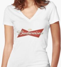 Budweiser Women's Fitted V-Neck T-Shirt