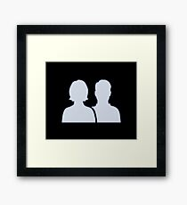 Facebook Friends Framed Print