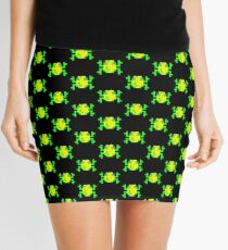 Multiple Pixel Frogs Mini Skirt - XXS to XXL