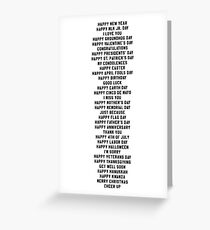 Celebrate Everything | All-Purpose Greeting Card Greeting Card