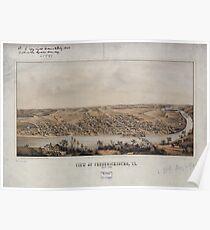 Civil War Maps 1899 View of Fredericksburg Va Nov 1862 Poster