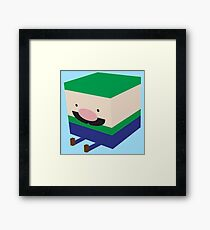 Green Blockio Framed Print