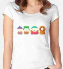 South Park Characters Women's Fitted Scoop T-Shirt