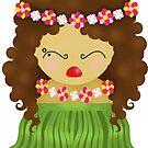 Hawaiian kokeshi doll by balgrittella
