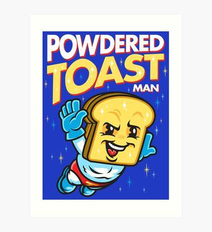 Super Toast Man Art Print