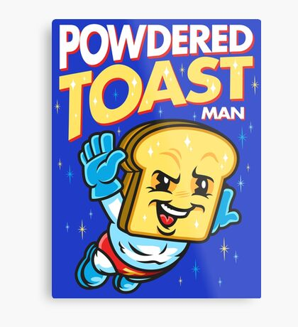 Super Toast Man Metal Print
