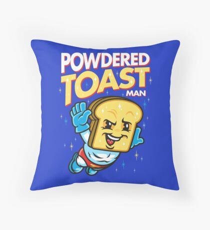 Super Toast Man Throw Pillow