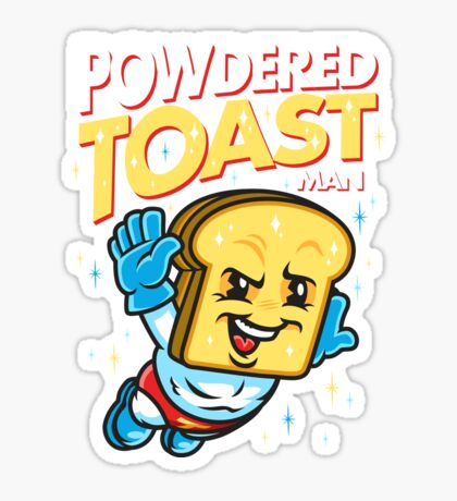Super Toast Man Sticker